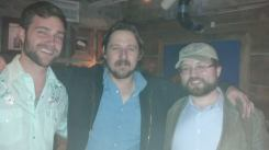 L-rR Drew Ball of the Riverbreaks, Sturgill Simpson, and the writer, Nathan Empsall, in November 2013.